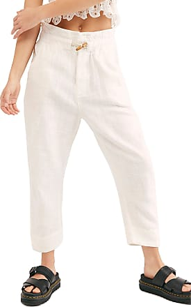Free People Paradise High Waist Pants, Size Large - Ivory