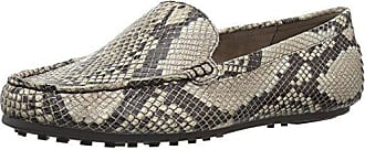 Aerosoles Womens Over Drive Loafer, Taupe Snake, 6 W US
