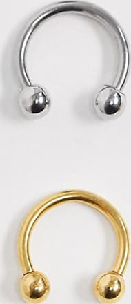 7X SVNX 2 pack nose ring-Silver