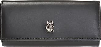 Alexander McQueen Appliqued Wallet Womens Black