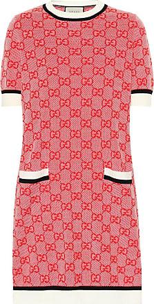 Gucci Strickkleid aus Wolle und Baumwolle