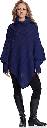 Merry Style Womens Poncho N4293(Dark Blue, One Size)