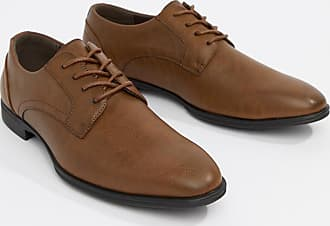 New Look faux leather derby shoes in tan-Brown