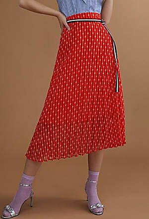Icone Patterned accordion-pleat skirt