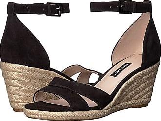 108ae530804 Nine West Jabrina Espadrille Wedge Sandal (Black) Womens Shoes