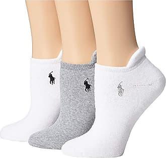 2a12ed8fdbe7 Ralph Lauren Heel Tab Cushion Sole Cotton Low Cut 3 Pack (Grey White)
