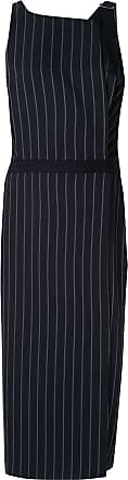 Dion Lee Pinstripe Utility midi dress - Black