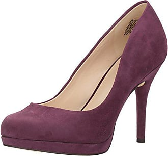 Nine West Womens Kristal Pump, DARK PURPLE SUEDE, 9 Medium US