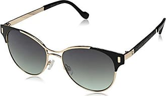 Jessica Simpson Womens J5565 Oxgld Non-Polarized Iridium Aviator Sunglasses, Black Gold, 57 mm