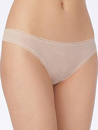 OnGossamer Womens Mesh Low-Rise Thong Panty, Champagne L/XL