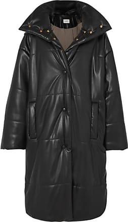 Nanushka Eska Oversized Quilted Vegan Leather Coat - Black