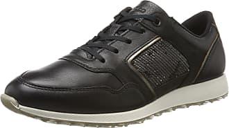 Ecco Womens Sneak Ladies Low-Top Sneakers, Black (Black/Dark Clay/Black), 7.5 UK