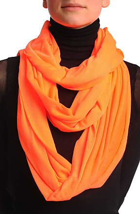 Liss Kiss Fluorescent Orange Two Or Three Loops Snood - Orange Designer Scarf