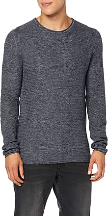 Only & Sons Mens Onswictor 12 Structure Crew Neck Noos Jumper, Purple (Dress Blues Dress Blues), Small