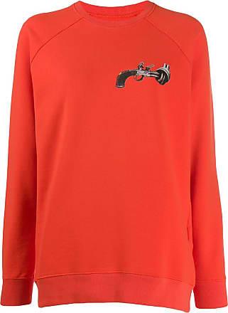 Kirin gun print sweatshirt - ORANGE