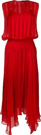 Irina Schrotter Vestido plissado - Vermelho