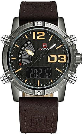 NAVIFORCE Relógio Masculino Naviforce 9095 - Marrom Preto