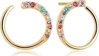 Sif Jakobs Jewellery Earrings Portofino with Multicoloured zirconia - 18k gold plated