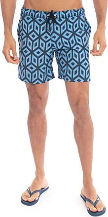 Aleatory Shorts Estampado Aleatory Geometry-Azul-P
