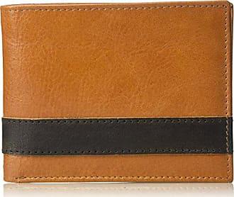Florsheim Mens Two Tone BiFold Wallet, brown/tan, M
