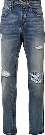 321 Calça jeans com detalhe rasgado - Azul
