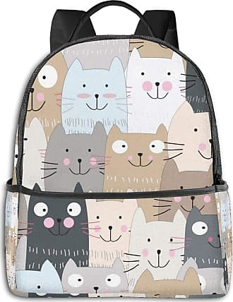 Not Applicable Clothing Cute Kitty Kitten Cat Mens Laptop Backpack Womens College Casual Lightweight Outdoor Sports Backpack