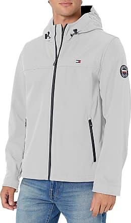 Tommy Hilfiger mens Soft Shell Performance Hoody Logo Jacket Shell Jacket