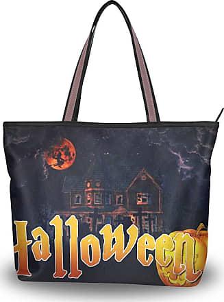 Lorona Women Helloween Pumpkin Halloween Scary Canvas Shoulder Hand Bag Large Capacity Tote Bag