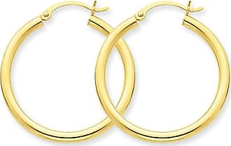Quality Gold 14kt Yellow Gold Polished 2.5mm Round Hoop Earrings
