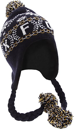 Oxford University Unisex Fairisle Pattern Oxford Peruvian Winter Hat (One Size) (Navy)
