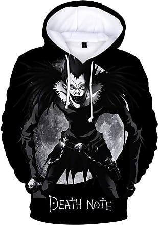 Haililais Death Note Pullover Unisex Sweatshirt Winter Hooded Parent-Child wear Tops Anime Printed Pullover Unisex (Color : A05, Size : 180)