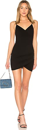 Superdown Dahlia Wrap Mini Dress in Black
