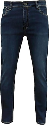 883 Police Mens Ashton Button Fly Skinny Fit Denim Jeans Blue W36/34L
