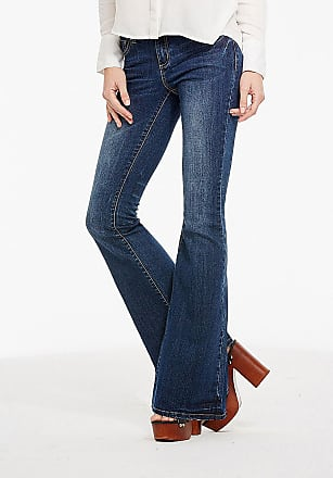 Alloy Apparel Hailey Retro Flare Jeans for Tall Women Medium Blue Size 5/35 - Cotton/Spandex