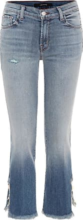 J Brand Selena mid-rise cropped jeans