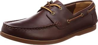 Clarks Morven Sail Mens Boat Shoes 11 G UK British Tan