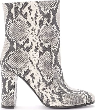 Via Roma 15 Python Printed Leather Ankle Boots