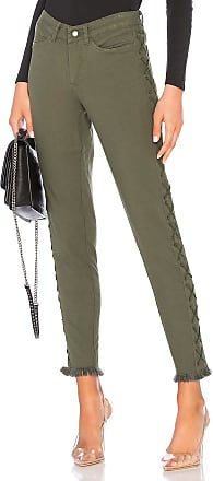 Chaser Vintage Canvas Lace Up Frayed Utility Pant in Army