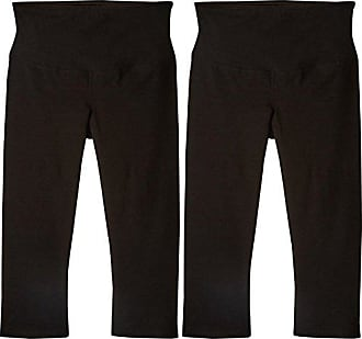Yummie Tummie by Heather Thomson Womens Maternity 2-Pack Shaping Support Capri Legging, Black, S
