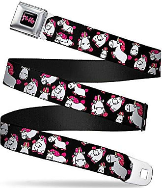 20-36 Inches in Length Buckle-Down Seatbelt Belt 1.0 Wide C6 Logo REPEAT Pink//Black