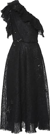 Valentino Embellished mohair-blend midi dress