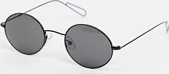 Weekday Trip oval sunglasses in black