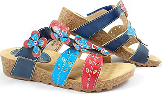 204ff29afd1 Laura Vita Bourges 80 Slip On Low Wedge Sandal EU 36   UK 3 Blue
