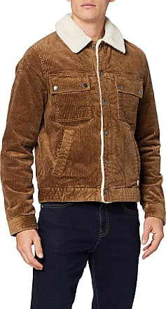 Tom Tailor Denim Mens Corduroy Trucker Jacket, Green (Light Oak 20704), XL