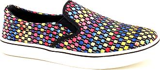 bernie mev. Womens Verona Woven Slip-On Sneaker (Black Multi, 3)