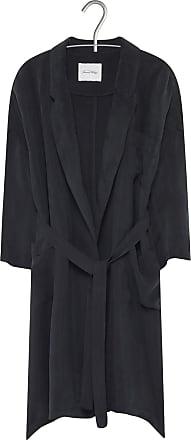 fb012961f8b American Vintage Veste col tailleur longue fluide ceinturée en cupro