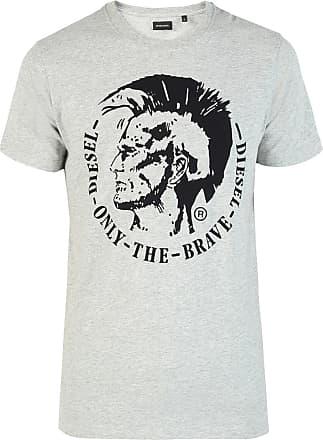 Diesel Embroidered Logo T-shirt Mens Grey