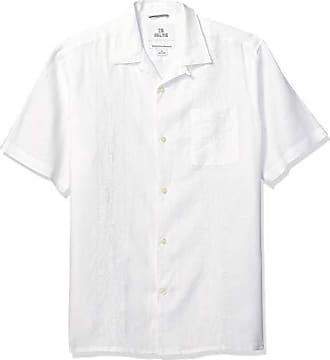 100/% lino vestibilit/à rilassata camicia da uomo a maniche corte Marchio 28 Palms