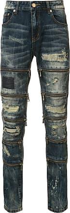 Gods Masterful Children zipped ripped skinny jeans - Blue