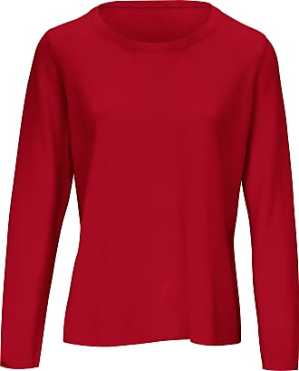 include Round neck jumper in pure new wool and cashmere include red
